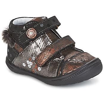 Sapatos Rapariga Botas baixas Catimini ROSSIGNOL Preto / Cobre