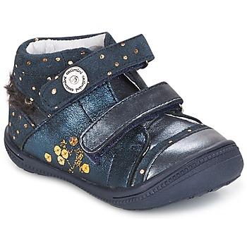 Sapatos Rapariga Botas baixas Catimini ROSSIGNOL Marinho - pintas / Dourado