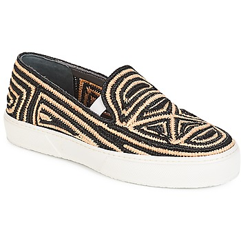 Sapatos Mulher Slip on Robert Clergerie  Preto / Bege