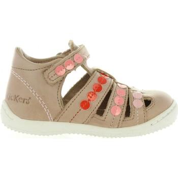 Sapatos Rapariga Sandálias Kickers 469680-10 GIFT Beige