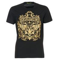 Textil Homem T-Shirt mangas curtas Versace Jeans B3GQB7T2 Preto / Dourado