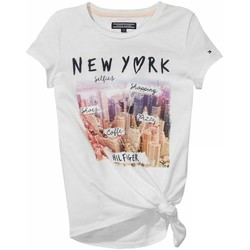 Textil Rapariga T-Shirt mangas curtas Tommy Hilfiger AME GIRLS PHOTO CN KNIT S/S branco