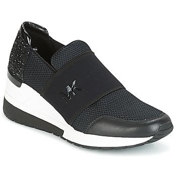 Sapatos Mulher Sapatilhas MICHAEL Michael Kors FELIX TRAINER Preto