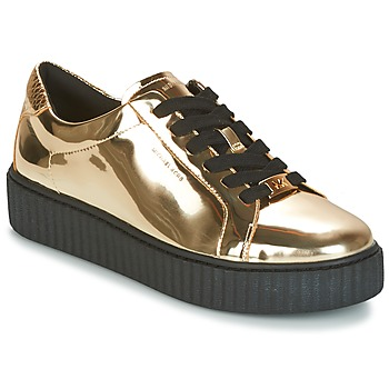 Sapatos Mulher Sapatilhas MICHAEL Michael Kors TRAVOR LACE UP Ouro