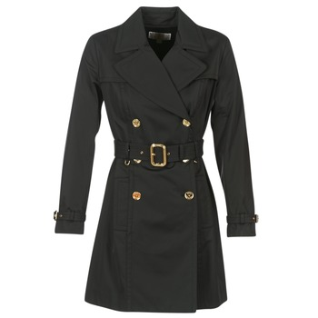 Textil Mulher Trench MICHAEL Michael Kors PLEATED TRENCH Preto
