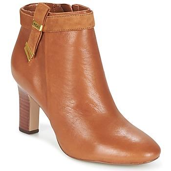 Sapatos Mulher Botins Ralph Lauren BRIN Conhaque