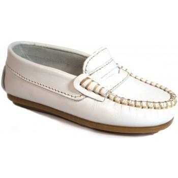 Sapatos Criança Mocassins La Valenciana Zapatos Niños  045 Blanco Branco