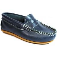 Sapatos Criança Mocassins La Valenciana Zapatos Niños  045 Marino Azul