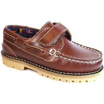 Sapatos Criança Sapato de vela La Valenciana Zapatos Niños  031 Cuero Castanho