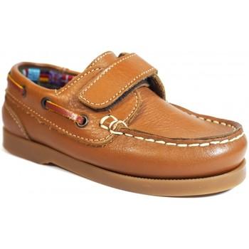 Sapatos Criança Sapato de vela La Valenciana Zapatos Niños  020 Cuero Castanho