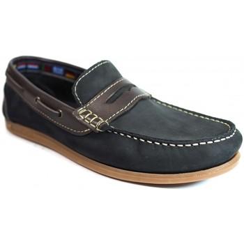 Sapatos Homem Sapato de vela La Valenciana Zapatos  256 Marino Azul