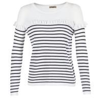 Textil Mulher camisolas Betty London HOMI Marinho / Branco