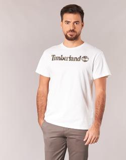 Textil Homem T-Shirt mangas curtas Timberland DUNSTAN RIVER CAMO PRINT Branco