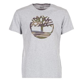 Textil Homem T-Shirt mangas curtas Timberland DUNSTAN RIVER CAMO PRINT Cinza