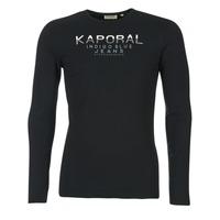 Textil Homem T-shirt mangas compridas Kaporal PONIO Preto