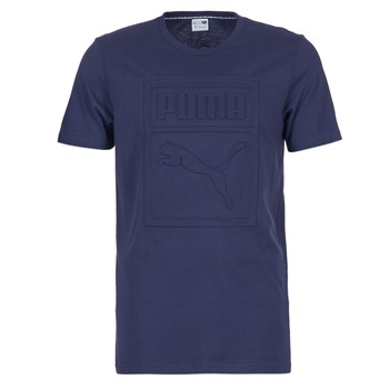 Textil Homem T-Shirt mangas curtas Puma ARCHIVE EMBOSSED LOGO TEE Marinho