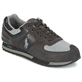 Sapatos Homem Sapatilhas Ralph Lauren SLATON PONY Preto / Cinza