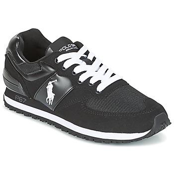 Sapatos Homem Sapatilhas Ralph Lauren SLATON PONY Preto