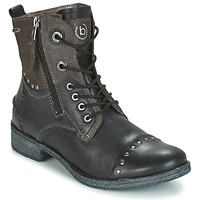 Sapatos Mulher Botas baixas Bugatti PIERA Preto / Cinza / Escuro