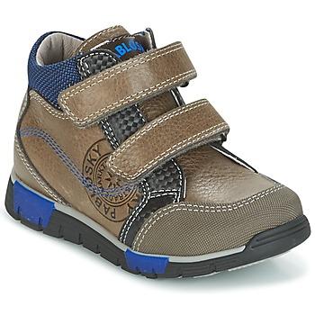 Sapatos Rapaz Sapatilhas de cano-alto Pablosky DENTELY Cinza / Azul