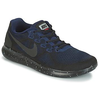 Sapatos Mulher Sapatilhas de corrida Nike FREE RUN 2017 SHIELD Preto / Azul