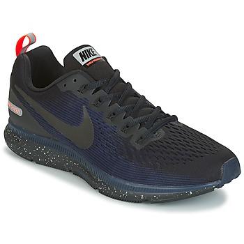 Sapatos Homem Sapatilhas de corrida Nike AIR ZOOM PEGASUS 34 SHIELD Preto / Azul