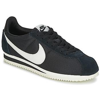 Sapatos Mulher Sapatilhas Nike CLASSIC CORTEZ NYLON W Preto / Branco