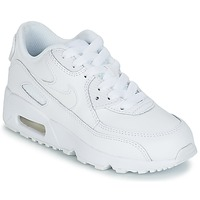 Sapatos Rapaz Sapatilhas Nike AIR MAX 90 LEATHER PRE-SCHOOL Branco