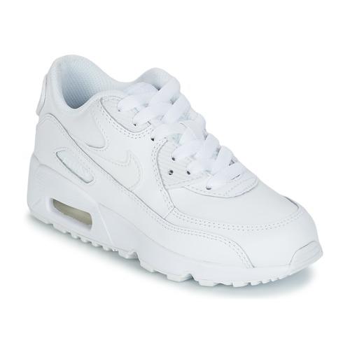 Sapatos Criança Sapatilhas Nike AIR MAX 90 LEATHER PRE-SCHOOL Branco