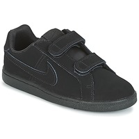 Sapatos Rapaz Sapatilhas Nike COURT ROYALE PRE-SCHOOL Preto
