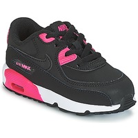 Sapatos Rapariga Sapatilhas Nike AIR MAX 90 LEATHER TODDLER Preto / Rosa
