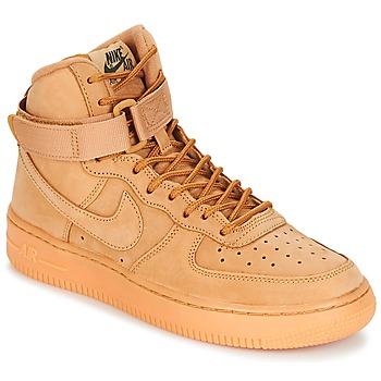 Sapatos Criança Sapatilhas de cano-alto Nike AIR FORCE 1 HIGH WB GRADE SCHOOL Mel