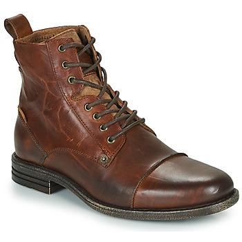 Sapatos Homem Botas baixas Levi's EMERSON Castanho