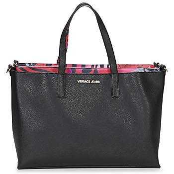 Malas Mulher Cabas / Sac shopping Versace Jeans ANTALOS Preto / Vermelho / Multicolor