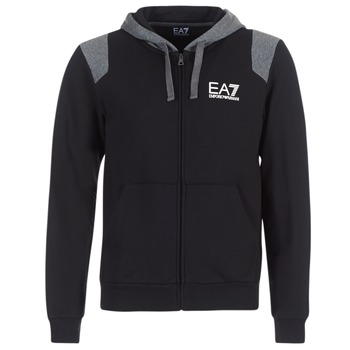 Textil Homem Sweats Emporio Armani EA7 TRAIN TRITONAL M HOODIE FZ Preto