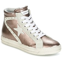 Sapatos Mulher Sapatilhas de cano-alto Meline POLARE Bronze