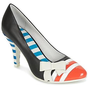 Sapatos Mulher Escarpim Lola Ramona STILETTO Preto / Laranja / Branco