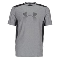 Textil Homem T-Shirt mangas curtas Under Armour UA RAID GRAPHIC SS Cinza / Preto