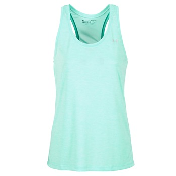 Textil Mulher Tops sem mangas Under Armour TECH TANK - SOLID Verde