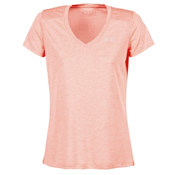 Textil Mulher T-Shirt mangas curtas Under Armour TECH SSV - TWIST Coral