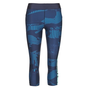 Textil Mulher Collants Under Armour UA HG ARMOUR GRAPHIC CAPRI Azul