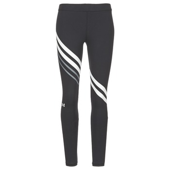 Textil Mulher Collants Under Armour FAVORITE LEGGING ENGINEERED Preto / Branco