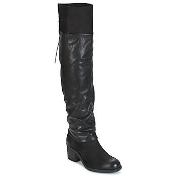 Sapatos Mulher Botas altas Mjus SHAGGY Preto