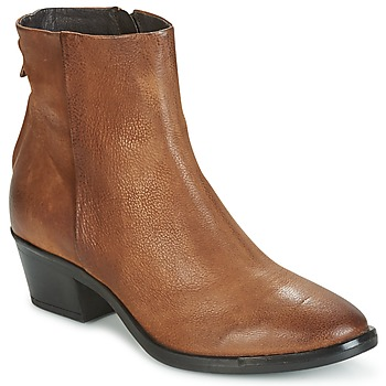 Sapatos Mulher Botas baixas Mjus FRESNO ZIP Castanho