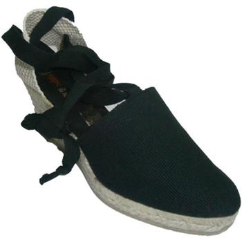Sapatos Mulher Chinelos Andinas Valência sapatos amarrados cunha andino negro