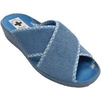 Sapatos Mulher Chinelos Nevada Mulher Thong tiras cruzadas dedo aberto e calcanhar  em Celeste azul