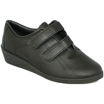 Sapatos Mulher Multi-desportos Made In Spain 1940 Ostenta a mulher com velcro cunha Fergar negro