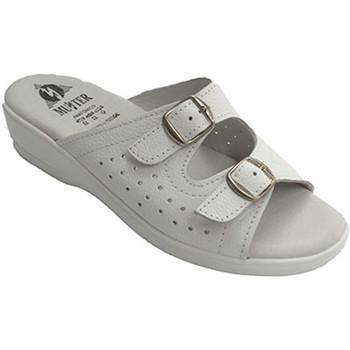 Sapatos Mulher Sandálias Muñoz Y Tercero Thongs mulher anatômica com dois fivela de terra muito macia  em blanco