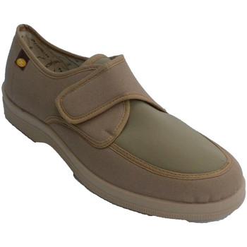 Sapatos Homem Chinelos Doctor Cutillas Homem Zaptilla com velcro muito confortável com a parte superior beige
