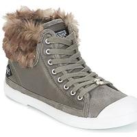 Sapatos Mulher Sapatilhas de cano-alto Le Temps des Cerises BASIC 03 Cinza
